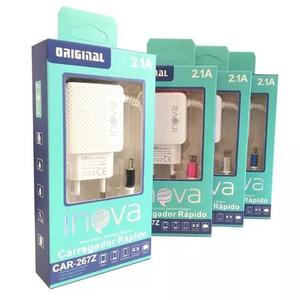 Kit de 20 carregador v8 inova original 2a p/celular car-267z