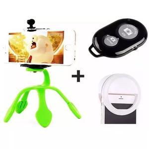 Luz de selfie ring light anel led flash celular+ mini tripé