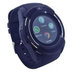 Relógio bluetooth c/ câmera smartwatch v8 universal