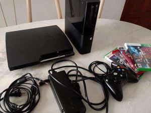 Troco Play Station 3 Slim 230 Gb + Xbox 360 250 Gb