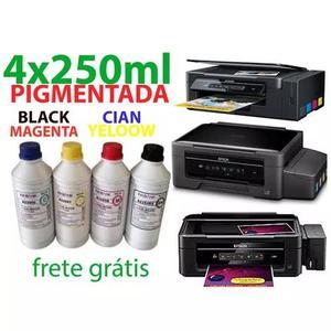 4x250 ml - tinta pigmentada epson l4150,4160
