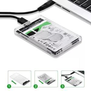 Adaptador Case P/ Hd Sata Notebook Slim Usb 3.0 Transparente