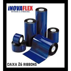 Ribbon cera 110x74 argox zebra datamax caixa 26