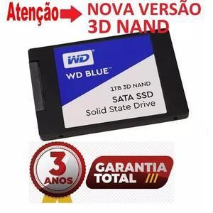 Ssd 1tb wd blue sata3 nova versão 3d nand - gar 3anos - nfe