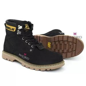Bota botina coturno caterpillar masculina couro original top