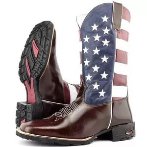 Bota country estados unidos bico quadrado texana longo