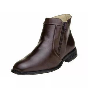 Bota masculina social botina sandi couro pelica zíper - 576