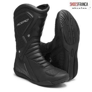 Bota motociclista motoqueiro acero speed cano alto com ziper
