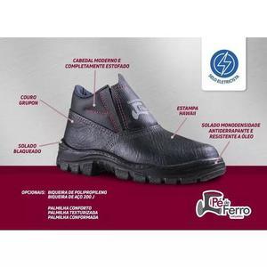 f04152d8aaa65 Botina de segurança bico pvc elástico marca pé de ferro