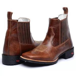 58b99b7de9 Botina masculina bico quadrada. bota texana country