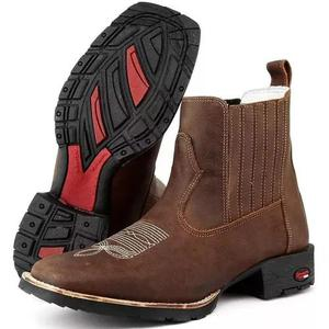 7830328235 Botina masculina country couro legitimo texana dhl calçados