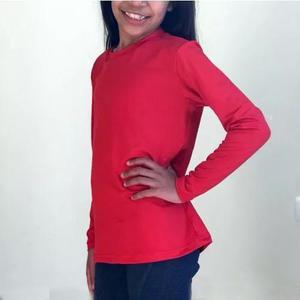 Camisa infantil com proteção uv solar fps 50 blusa 1b492264e76