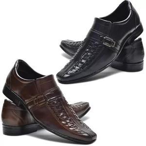 e5fc8d488 Kit 2 pares de sapato social masculino couro legitimo barato em ...
