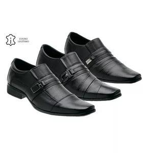 73ff9db628 Kit 3 pares sapato masculino couro legitímo frete grátis