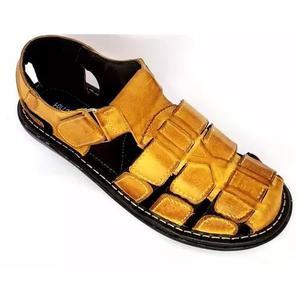 Kit 3 sandalias de couro masculina fechada preço de fabrica