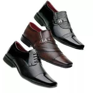 f4ad569d35 Kit europeu 3 pares sapato social masculino casual