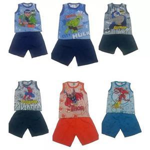Lote 08 roupas de criança menino e menina direto da fabrica