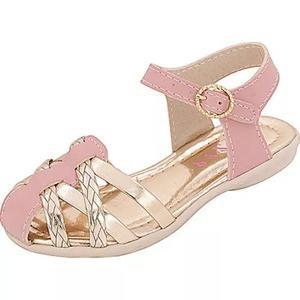 Sandália infantil menina plis calçados rosa 635