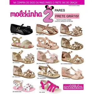 Sandália infantil molekinha 2112.104 - 2114.100 original