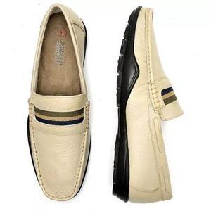 Sapato masculino mocassim couro legítimo macio - 06 cores