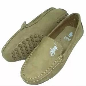Sapato mocassim infantil / de criança masculino couro