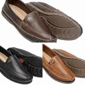 Sapato mocassim kit 3 pares sapatilha tenis masculino couro