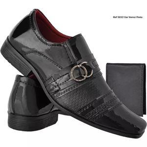 Sapato social masculino verniz sapatos masculinos +carteira