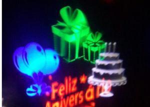 Luminária decoração festa aniversário refletor led rgb