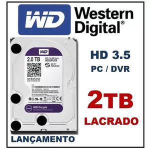 Hd 2tb western digital wd purple wd20purz sata3 3.5 c/ nf