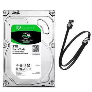 Hd seagate desktop 2tb 2000gb 64mb sata 3 6gbs + cabo sata 3