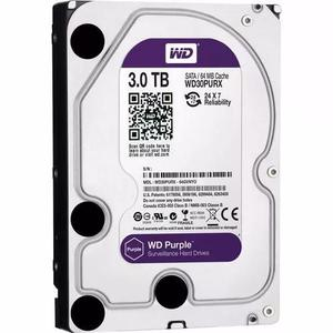 Hd Western Digital Purple 3tb Dvr Wd30purz Intelbras