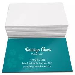 1000 cartões de visita 4,8x8,8cm frente brilho 4x0cor 250g