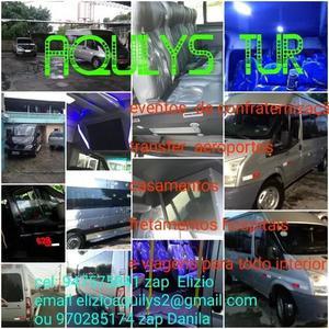 Serviço de fretamento transfer com vans e carros exclusivos