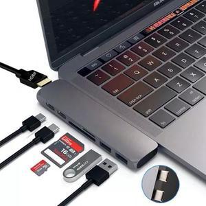 Adaptador hub macbook pro usb tipo c hdmi 4k thunderbolt 3