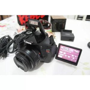 Canon t3i + 50mm completa frete gratis e desconto a vista