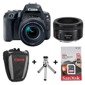 Câmera canon sl2 c/ lentes 18-55 e 50mm +