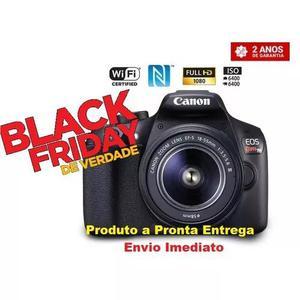 Câmera digital canon eos rebel t6 dslr c/ lente ef-s