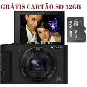 Câmera sony dsc-hx80 fhd+ micro sd 32gb grátis -