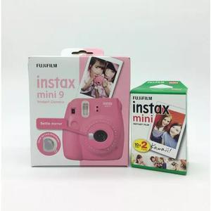 Kit instax mini 9 rosa flamingo + filme 20 fotos