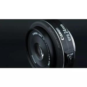 Lente canon ef-s 24mm f/2.8 stm grande angular envio hj nf-e