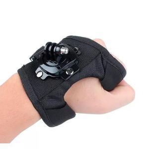 Luva suporte alça 360° mão pulso gopro go pro hero 3+ 4 5
