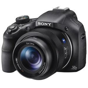 Nova câmera sony cyber shot h400 20.4mp wifi - preto