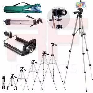 Tripé câmera profissional sl-2111 gopro 1,30 mts + suporte