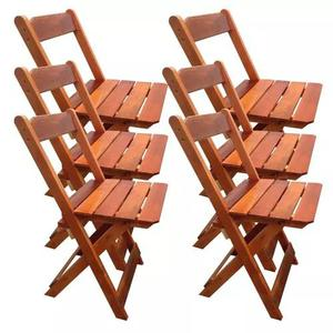 6 cadeiras dobrável bar e restaurante madeira maciça mel