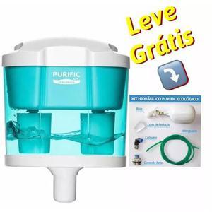 Filtro de água purific ecológico / brinde kit hidráulico