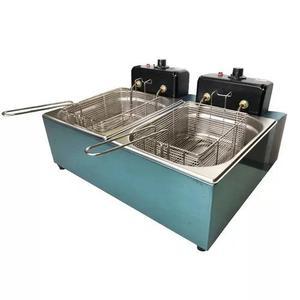 Fritadeira eletrica industrial 2 cubas 10 litros