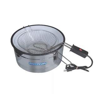 Fritadeira elétrica 3 litros aro inox esmaltada 110v 450