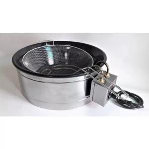 Fritadeira elétrica 7 litro profissional tacho preto - 110v