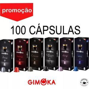 Kit 100 cápsulas café compatíveis nespresso - gimoka