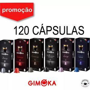 Kit 120 cápsulas café compatíveis nespresso - gimoka